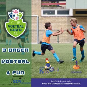 Te gekke voetbaldagen in je schoolvakantie bij SDVBarneveld.
